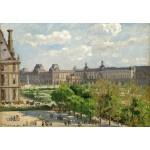 Puzzle  Grafika-Kids-01368 Camille Pissarro: Place du Carrousel, Paris, 1900