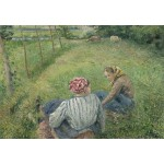 Puzzle  Grafika-Kids-01377 Camille Pissarro: Young Peasant Girls Resting in the Fields near Pontoise, 1882