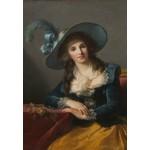 Puzzle  Grafika-Kids-01483 Louise-Élisabeth Vigee le Brun: Comtesse de Segur, 1785