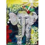 Puzzle   Magnetische Teile - Thailändisches Elefantenbaby