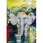 Puzzle   XXL Teile - Thailändisches Elefantenbaby