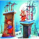 Puzzle   François Ruyer - Die Hexe und der Weihnachtsmann