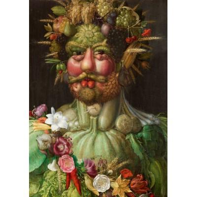 Puzzle Grafika-00019 Giuseppe Arcimboldo: Rudolf II of Habsburg as Vertumnus