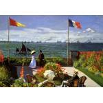 Puzzle  Grafika-00036 Claude Monet: Terrasse à Sainte-Adresse, 1867
