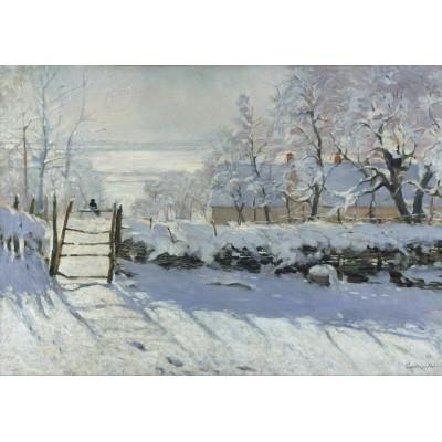 Puzzle Grafika-00039 Claude Monet: Die Elster, 1868-1869