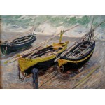 Puzzle  Grafika-00045 Claude Monet: Trois bateaux de Pêche, 1886
