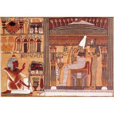 Puzzle Grafika-00046 Ägyptisches Totenbuch: Ani im Jenseits vor Osiris