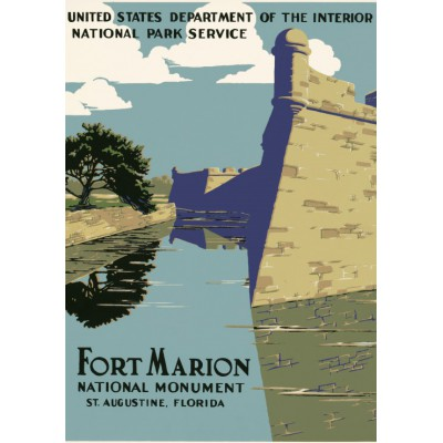 Puzzle Grafika-00091 Fort Marion, National Monument, 1938