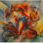 Puzzle  Grafika-00128 Umberto Boccioni: Dinamismo di un ciclista è un dipinto, 1913