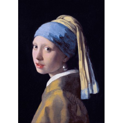 Puzzle Grafika-00143 Vermeer Johannes: Das Mädchen mit dem Perlenohrring, 1665