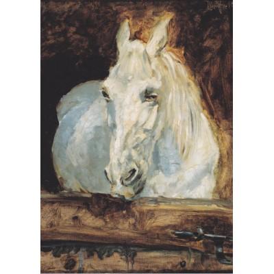 Puzzle Grafika-00170 Henri de Toulouse-Lautrec: Cheval Blanc Gazelle, 1881