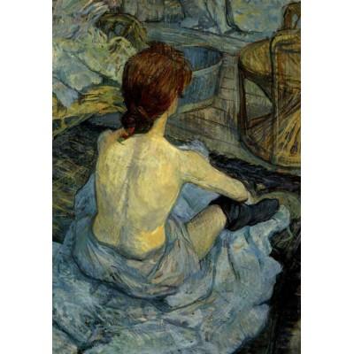 Puzzle Grafika-00177 Henri de Toulouse-Lautrec: Femme à sa Toilette, 1889
