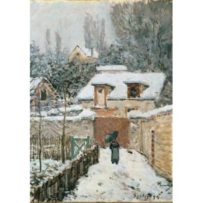 Puzzle Grafika-00179 Alfred Sisley: La neige à Louveciennes, 1878