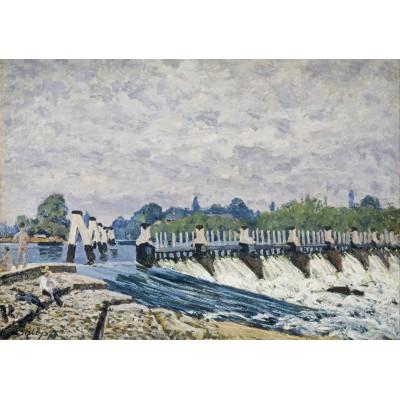 Puzzle Grafika-00184 Alfred Sisley: Le  Déversoir de Molesey le Matin, 1874