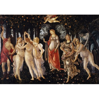 Puzzle Grafika-00187 Botticelli Sandro: Der Frühling / Das Reich der Venus (La Primavera), um 1478/1482