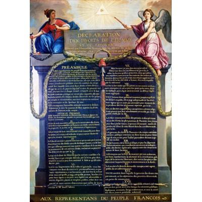 Puzzle Grafika-00201 Jean-Jacques Le Barbier: der Erklärung der Menschen- und Bürgerrechte von 1789