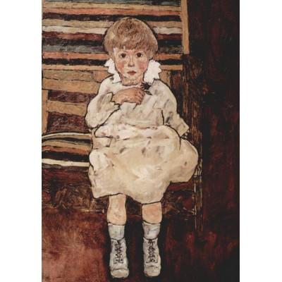 Puzzle Grafika-00216 Egon Schiele: Sitzendes Kind, 1918