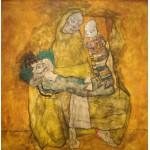 Puzzle  Grafika-00218 Egon Schiele: Mutter mit zwei kindern II, 1915