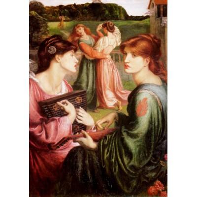 Puzzle Grafika-00221 Dante Gabriel Rossetti: Le Boudoir dans la Prairie, 1872