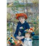 Puzzle  Grafika-00227 Auguste Renoir: Zwei Schwestern auf der Terrasse, 1881