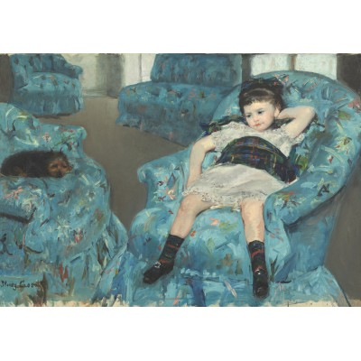Puzzle Grafika-00232 Mary Cassatt: Little Girl in a Blue Armchair, 1878