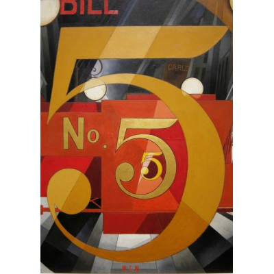 Puzzle Grafika-00249 Charles Demuth: The Figure 5 in Gold, 1928