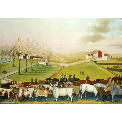 Puzzle Grafika-00251 Edward Hicks: The Cornell Farm, 1848