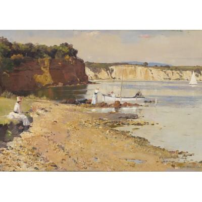 Puzzle Grafika-00262 Tom Roberts: Slumbering Sea, Mentone, 1887