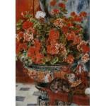 Puzzle  Grafika-00275 Auguste Renoir: Fleurs et Chats, 1881