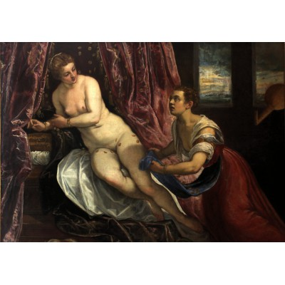 Puzzle Grafika-00287 Tintoretto: Danae, 1570