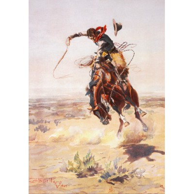 Puzzle Grafika-00294 Charles Marion Russell: A bad Hoss, 1904