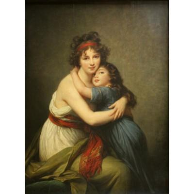 Puzzle Grafika-00300 Elisabeth Vigée-Lebrun: Madame Vigée-Lebrun et sa fille, 1789