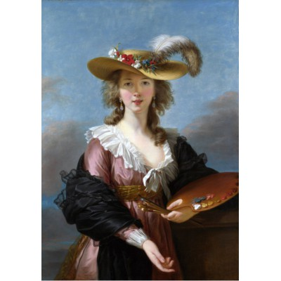 Puzzle Grafika-00301 Elisabeth Vigée-Lebrun: Autoportrait au Chapeau de Paille, 1782