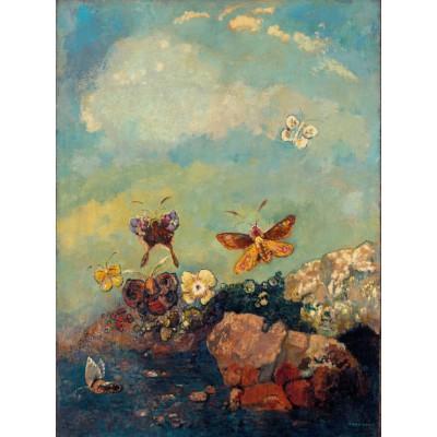 Puzzle Grafika-00303 Odilon Redon: Papillons, 1910