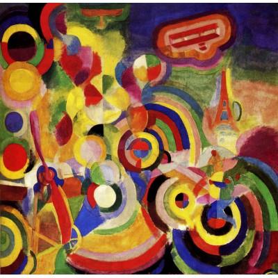 Puzzle Grafika-00312 Robert Delaunay: Hommage à Blériot, 1914