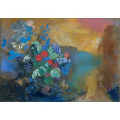 Puzzle Grafika-00313 Odilon Redon: Ophélie parmi les Fleurs, 1905-1908