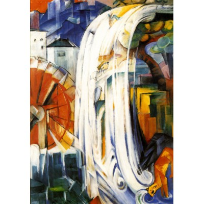 Puzzle Grafika-00324 Franz Marc: Die Verzauberte Mühle, 1913