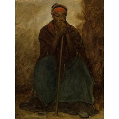 Puzzle Grafika-00331 Jonathan Eastman Johnson: Dinah, Portrait of a Negress, 1867