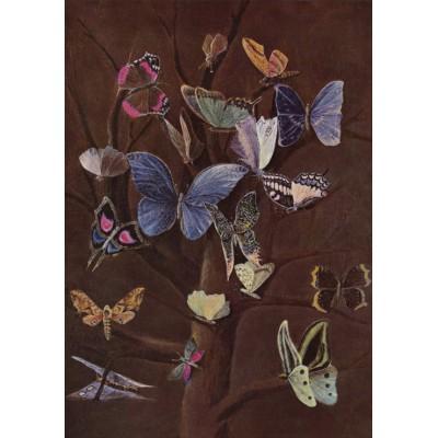Puzzle Grafika-00346 Wilhelm von Kaulbach: Schmetterlinge, 1860
