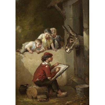 Puzzle Grafika-00350 François-Louis Lanfant de Metz: Der junge Künstler, 1892