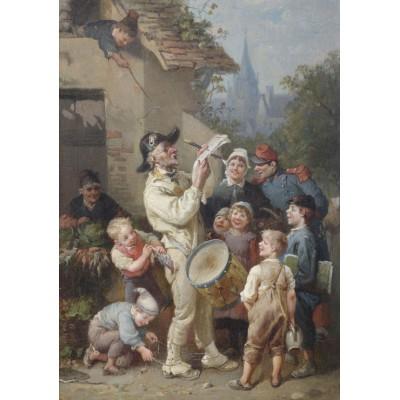 Puzzle Grafika-00351 François-Louis Lanfant de Metz: Ein Ausrufer wird von Kindern geneckt, 1892