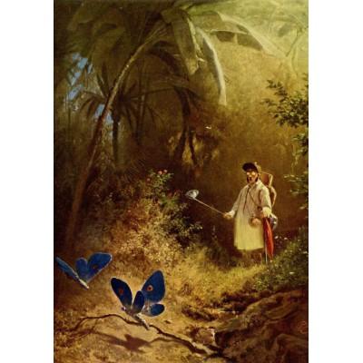 Puzzle Grafika-00352 Carl Spitzweg: Der Schmetterlingsjäger, 1840