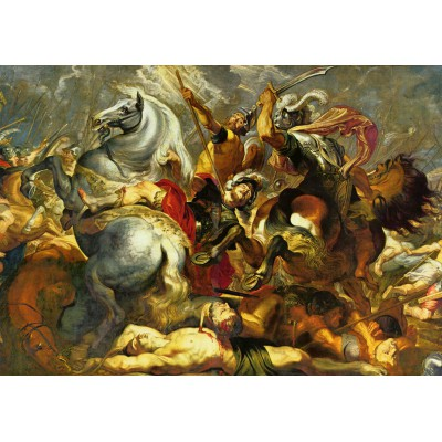 Puzzle Grafika-00354 Peter Rubens: Sieg und Tod des Konsuls Decius Mus in der Schlacht, 1617