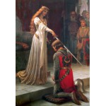 Puzzle  Grafika-00368 Edmund Blair Leighton: Der Ritterschlag, 1901