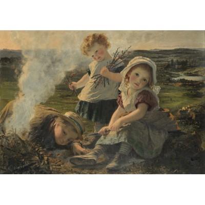 Puzzle Grafika-00374 Sophie Gengembre Anderson: The Bonfire, 1903
