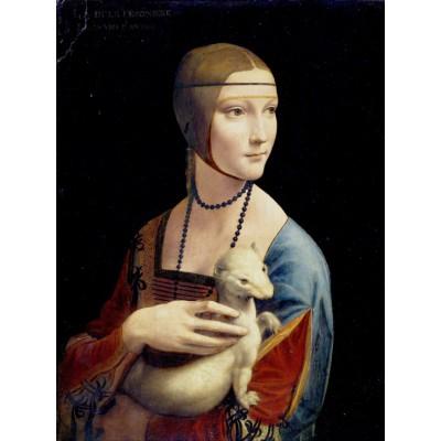 Puzzle Grafika-00376 Leonardo da Vinci: Dame mit dem Hermelin, 1489-1490
