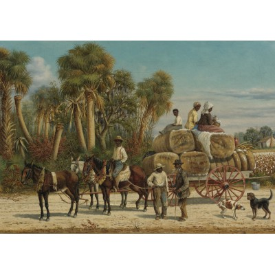 Puzzle Grafika-00379 William Aiken Walker: Cotton Wagon, 1883
