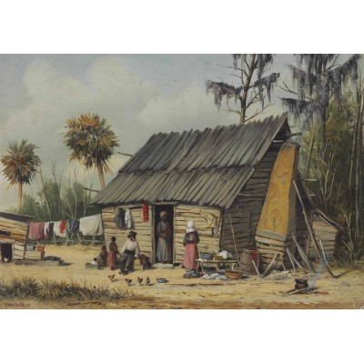 Puzzle Grafika-00380 William Aiken Walker: A Cabin Scene with Washing on Fence
