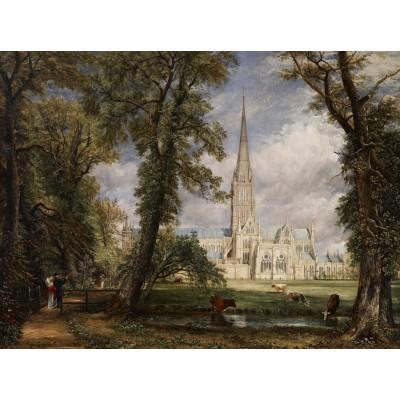 Puzzle Grafika-00401 John Constable: La Cathédrale de Salisbury, 1825