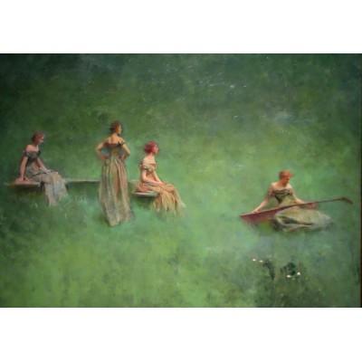 Puzzle Grafika-00410 Thomas Wilmer Dewing: Le Luth, 1895